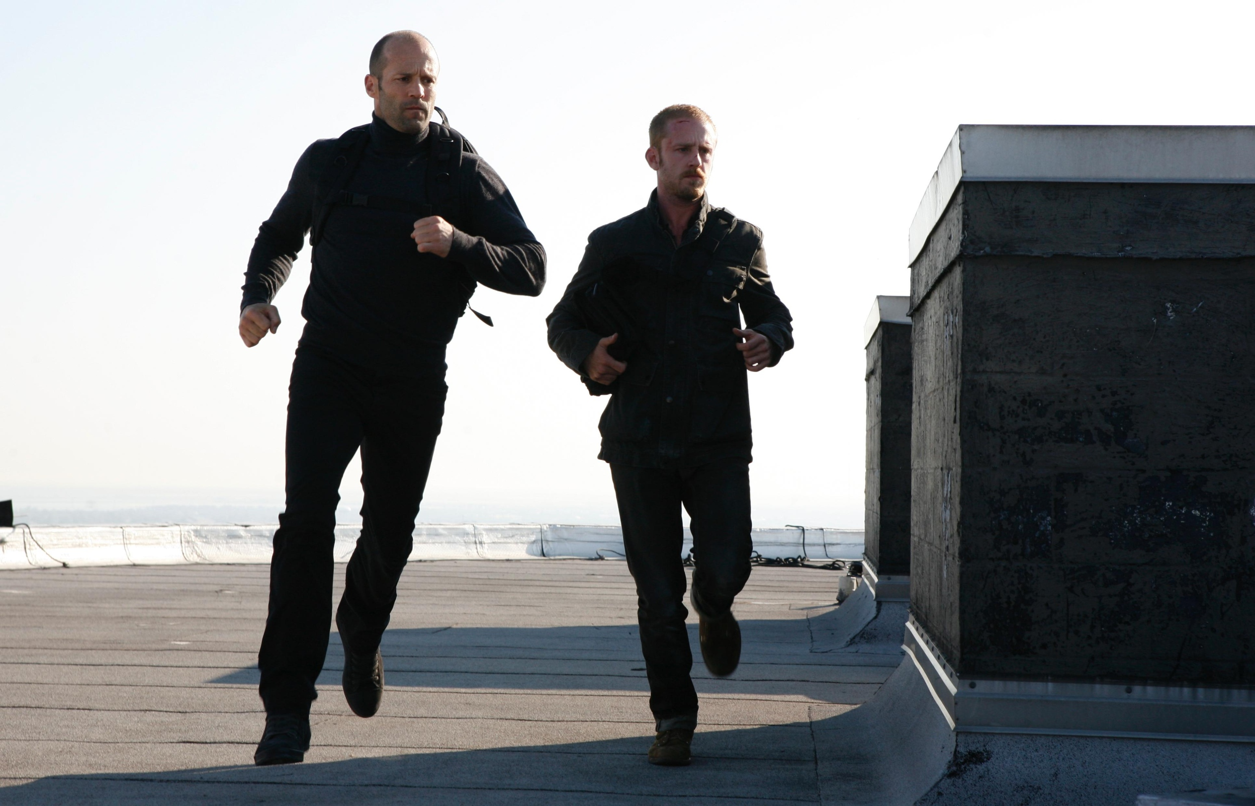 "Jason Statham with Ben Foster in ""The Mechanic"""