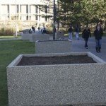 New planters added in hopes of sprucing up West Campus
