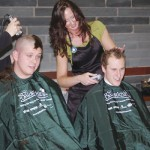 Shaving heads for cancer