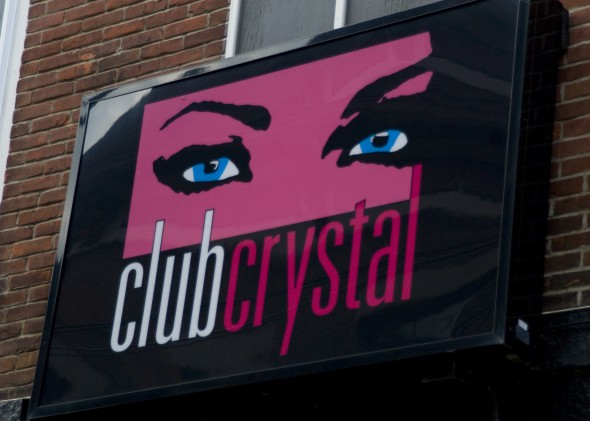 Sign outside of Club Crystal