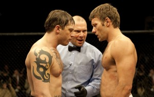 "Tom Hardy and Joel Edgerton star in ""Warrior"""