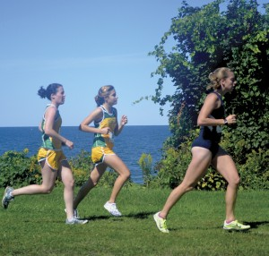 Katie Riley and Sarah Popovitch of Cross-country
