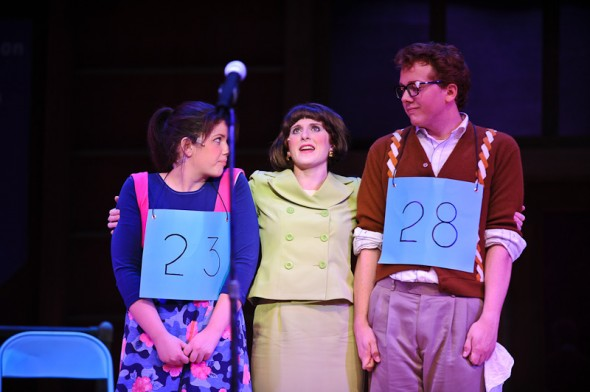 "Jaclyn Mienkiewicz, Ariel Marcus and Nathan Keep star in ""The 25th Annual Putnam County Spelling Bee"""