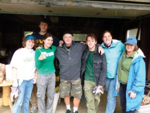 Oswego State students traveled to Binghamton in September to provide aid to the area.