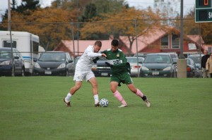 Eric Widanka battles for the ball