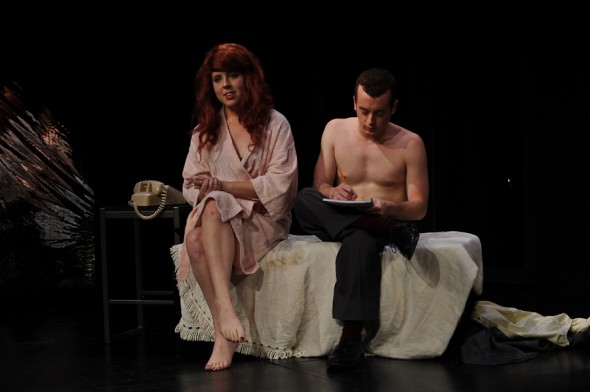 "Courtney Bennet and Daniel Distasio star in ""As Bees in Honey Drown"""