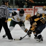 Women's hockey shuts out Neumann for first playoff win