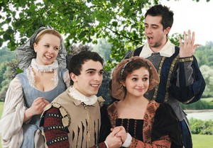 "Oswego State students perform Shakespeare comedy ""Much Ado About Nothing,"" a love-themed adventure."