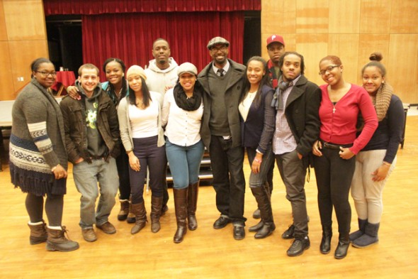 Student Association Programming Board and Black Student Union collaborated to bring Emmy-nominated poet Jon Goode to Oswego State. (Moraima Capellan | The Oswegonian)