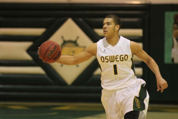Junior Daniel Ross has averaged 7.6 points and 3.9 rebounds per game in his first season at Oswego State. (Photo provided by Sports Information)
