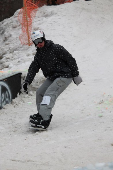 Oswego State junior Jason Biasini participates in last year's Rail Jam, presented by Oswego Ski Club. (Photo provided by Oswego Ski Club)