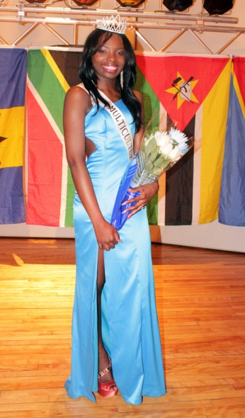 Evelyn Tarr represented Liberia and was crowned Miss Multicutural 2013. (Moraima Capellan | The Oswegonian)