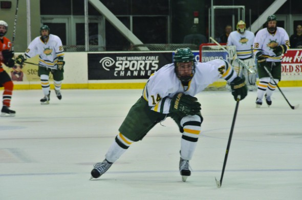 Oswego State senior forward Paul Rodrigues was awarded SUNYAC Player of the Year honors. (Nick Graziano | The Oswegonian)
