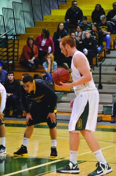 Oswego State senior forward Hayden Ward was named the SUNYAC Player of the Year on Feb. 26. (Nick Graziano | The Oswegonian)