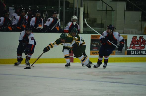 The Oswego State women's hockey team had the best season in program history and finished third in its conference which included a playoff berth. (Nick Graziano | The Oswegonian)