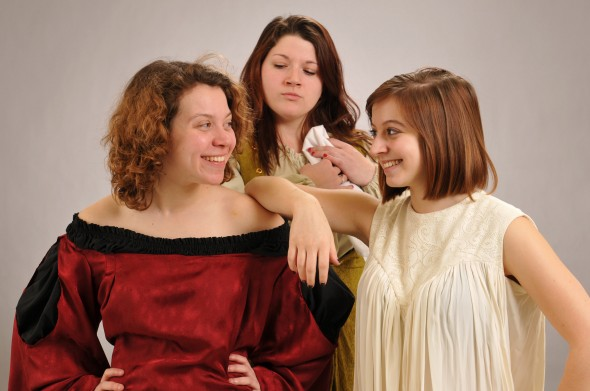 "Directed by professor Joan Hart Willard, ""Desdemona: A Play About a Handkerchief"" featured racy content, organic laughter and female bonding. (Photo provided by the Public Affairs Office)"