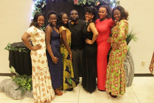 ASO Executive Board, from left: Bilikiz Adebayo, Oluwakemi Mogaji, Amie Gomez, Daniel Marfo, Ariana Carmona, Stephanie Okafor, Eniola Alawoya. (Moraima Capellan | The Oswegonian)
