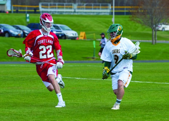 The men's lacrosse team is just 1-4 in its last five games, following a 5-0 start to the 2013 season. (Jessica Bagdovitz | The Oswegonian)