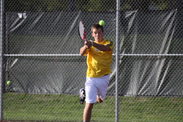 The Lakers will look to improve upon just four singles victories and eight doubles wins they had in the fall. Oswego State has only won one match thus far. (Photo provided by Sports Information)