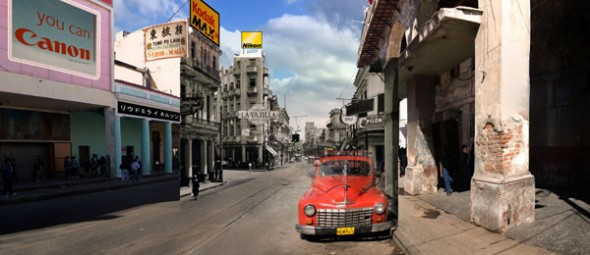 "The Tyler Art gallery features work by married couple, Liudmila & Nelson. Their series, entitled ""Hotel Habana,"" is a combination of photography and photoshop. (Photo provided by oswego.edu)"