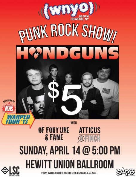'Handguns' brings their well-known act to Oswego State. (Photo provided by Patrick Malowski)