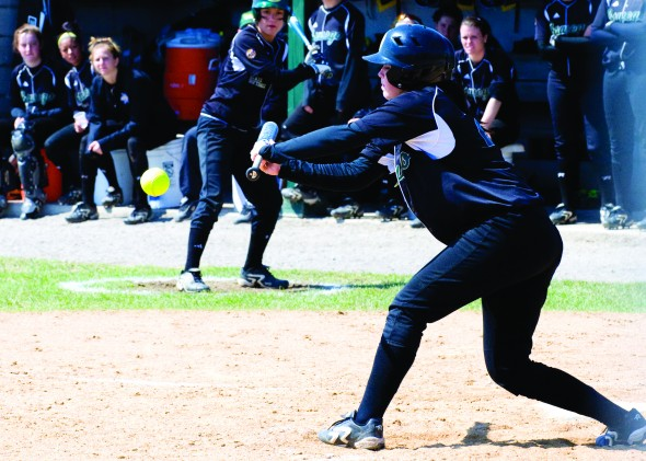 The Oswego State softball team has 22 games remaining on its schedule, all of them coming in 11 doubleheaders. The Lakers' final game of the year is April 27. (Jessica Bagdovitz | The Oswegonian)