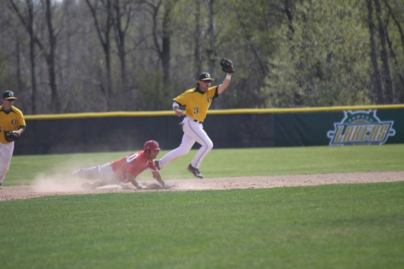 Senior infielder and team captain Mike Stark has started 18 games for the Lakers, and has posted an average of .296. He leads the team with 2 home runs. (Photo provided by Sports Infomation)
