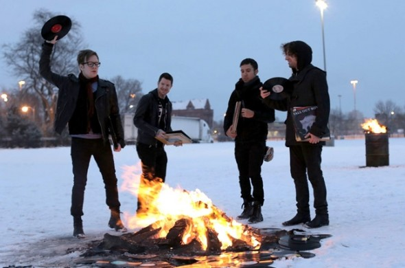 """On Feb. 4, Fall Out Boy posted the photo above with the caption """"The future of Fall Out Boy starts out now. Save rock and roll,"""" announcing a new age for the band and its music. (Photo provided by billboard.com)"""