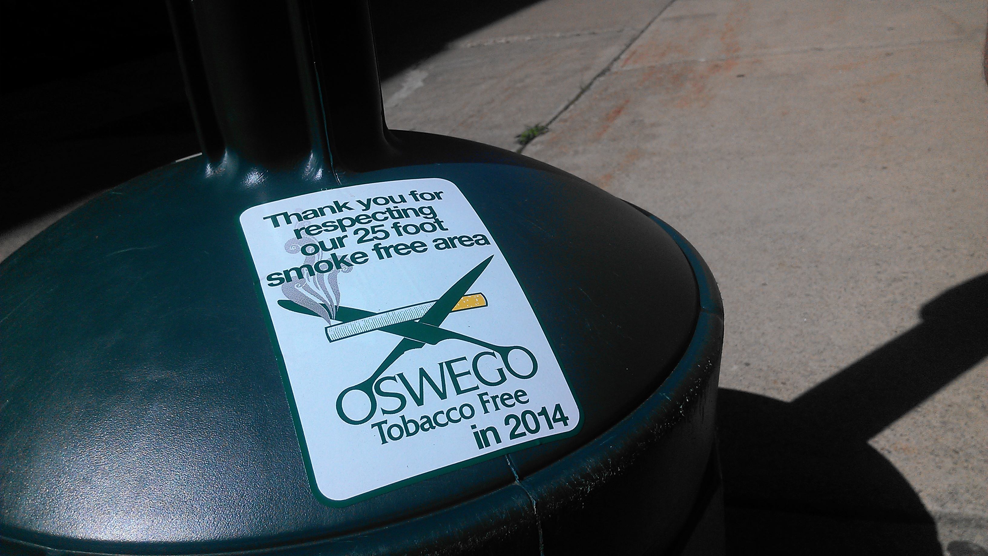 Oswego State has implemented a new smoking policy on campus. (Patrick Malowski | The Oswegonian)