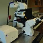 Zeiss microscope used for classes in new science center