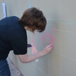 Students chalk up Tyler Hall for Banned Books Week