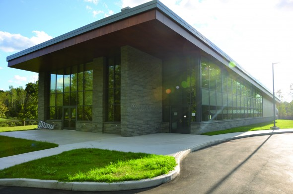 The new Rice Creek Field Station located about a mile and a half off campus began its rennovations in 2012 and was completed for the fall semester.  (Patrick Malowski   The Oswegonian)