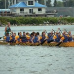 Oswego YMCA hosts dragonboat races