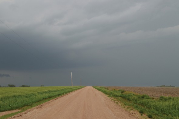 Students traveled through the Great Plains region of the United States chasing storms alongside professionals.  (Photo provided by Patrick Cavlin)