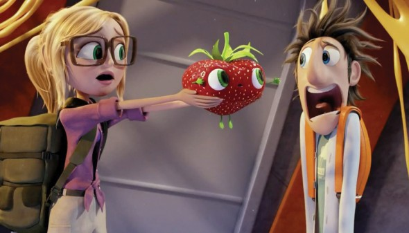 "Bill Hader returns with Andy Samberg and Anna Farris to voice the colorful world of ""Cloudy With a Chance of Meatballs 2.""  (Photo provided by itsartmag.com)"