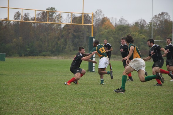 Senior Tyrell Moore (13) looks to lead the men's club rugby team to a state title in his final season. The Wizards lost in the state championship game last season.  (Photo provided by Reid Adler)