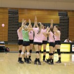 Lakers dominate at home during Dig Pink weekend