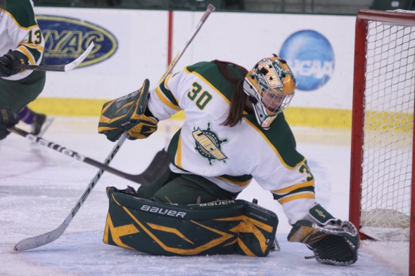 Junior goalie Bridget Smith looks to lead the Lakers after a stellar 2012-13 season between the posts.  (Photo provided by Sports Information)