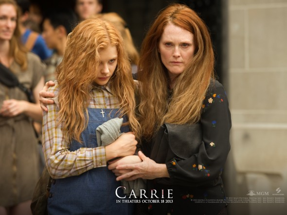 "Chloe Grace Moretz and Julianne Moore work well together, portraying a believable, troubled family in ""Carrie.""  (Photo provided by carrie-movie.com)"