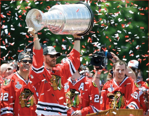 Chicago Blackhawks celebrate their championship.  (Photo provided by Flickr)