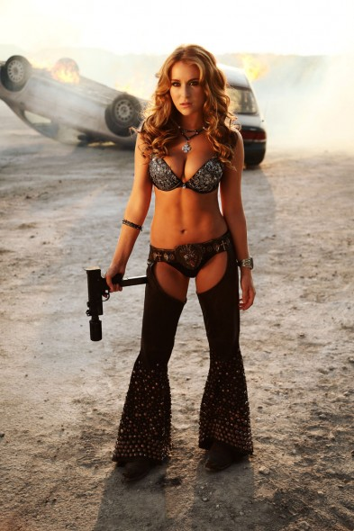 "A majority of the characters in ""Machete Kills,"" portrayed by well-known actors such as Alexa Vega, Lady GaGa and Antonio Banderas, are underdevelopted.  (Photo provided by machetekillsmovie.tumblr.com)"