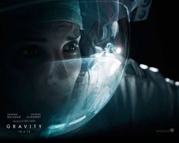 Sandra Bullock and George Clooney work well together in Alfonso Cuaron's thriller located in space.  (Photo provided by gravitymovie.warnerbros.com)