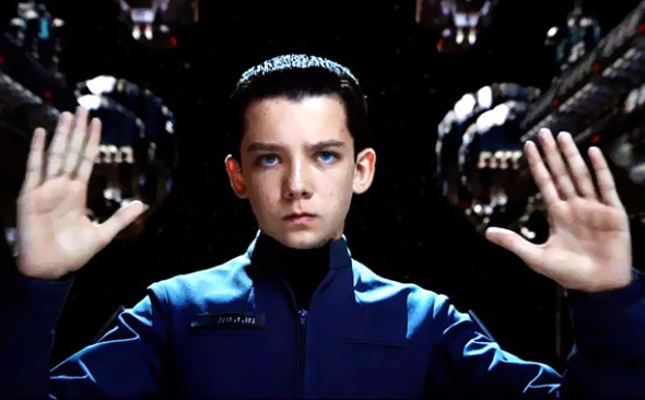 "Asa Butterfield shines alongside Harrison Ford, in ""Ender's Game"" in his portrayal of child prodigy and savior, Ender Wiggin.  (Photo provided by insidemovies.ew.com)"
