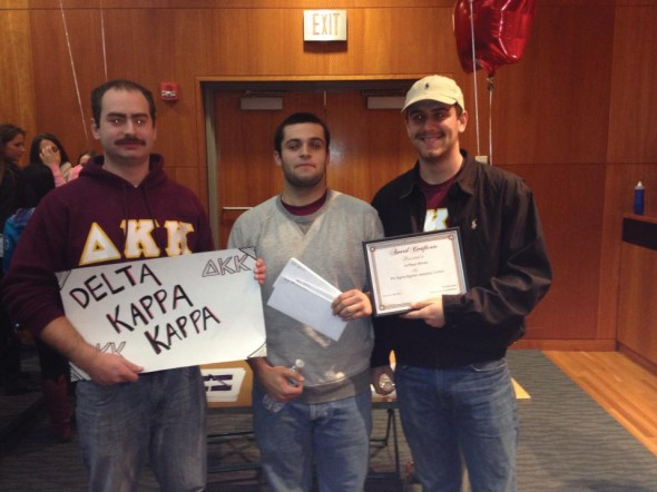 Three members of Delta Kappa Kappa received prizes during the event on Saturday.  (Photo provided by Taylor Delgado)