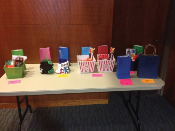 Some of the prizes available to those who participated in the tournament.  (Photo provided by Taylor Delgado)