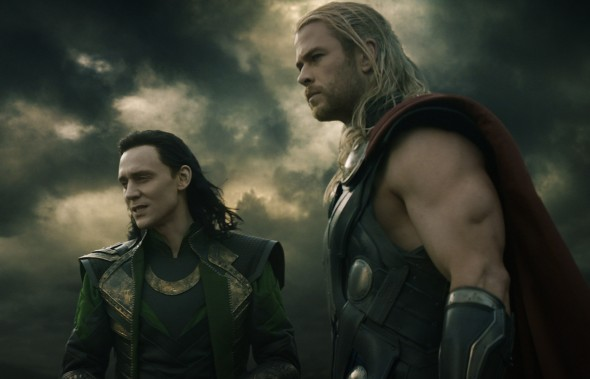 Tom Hiddleston and Chris Hemsworth return to their love-hate relationship in Thor 2.  (Photo provided by marvel.com)
