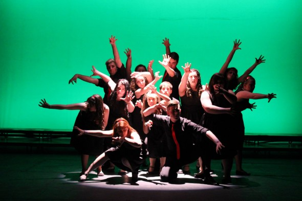 Oswego State's show choir had a little bit of something for everyone by mixing time-honored standards and modern pop melodies to entertain the audience.  (Photo provided by Quentin Mariano)