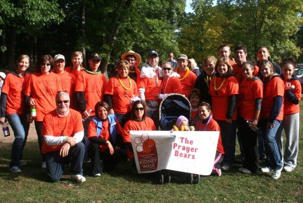 "The ""Prayer Bears"" Alyssa's team for the Kidney Walk at Seneca Park Zoo in 2011. (Photo provided by David Deffenbaugh)"