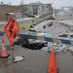 Water main break shuts down portion of Bridge Street
