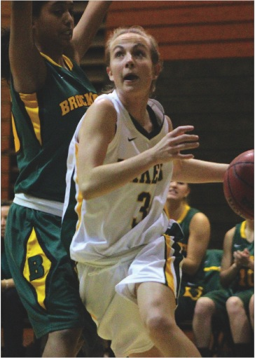 Senior Jenn Robbins led Oswego State with 16 points in its 51-50 loss to Brockport on Tuesday night.  (David Armelino | The Oswegonian)